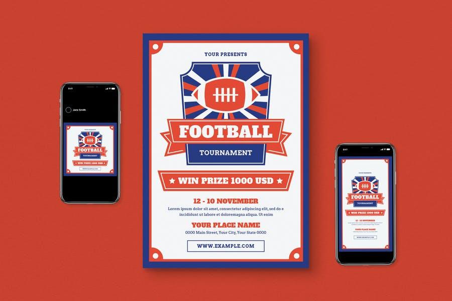 Football Flyer Set