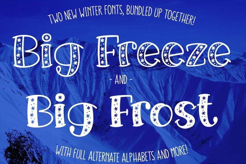 Freeze and Frost Fonts