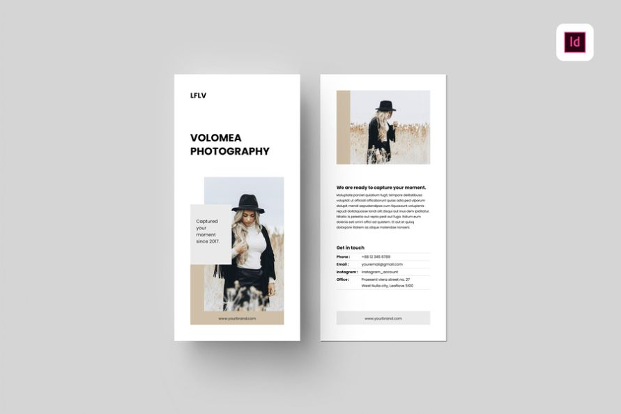 Front and Back Photography Brochure Templates