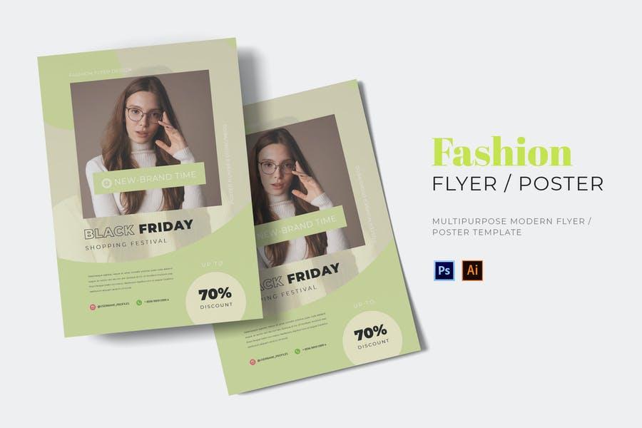 Fully Customizable Fashion Model Flyer