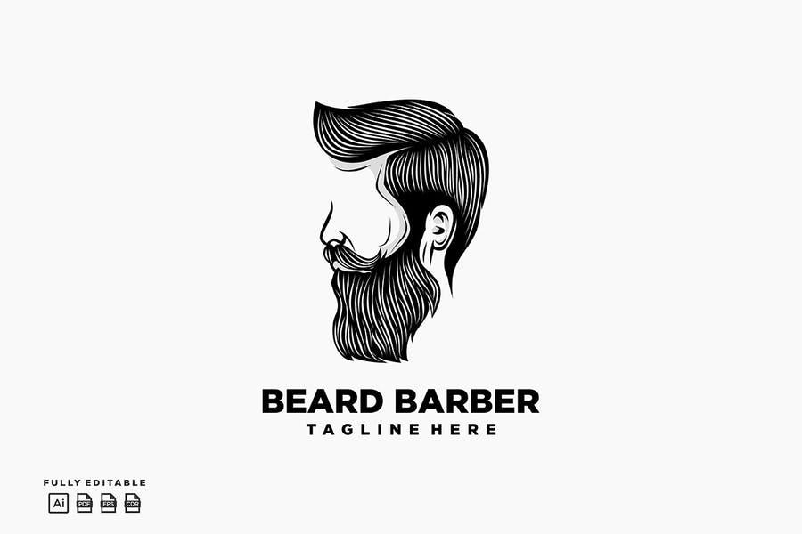 Fully Editable Barber Logo