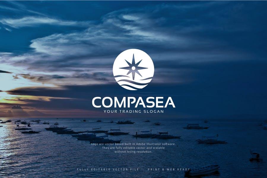 Fully Editable Compass Logo Ideas