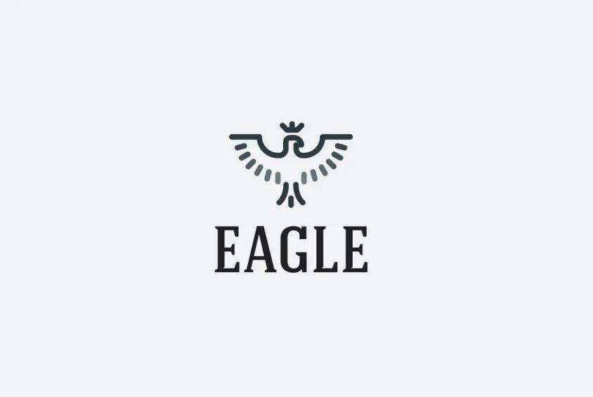 Fully Editable Eagle Logo Template