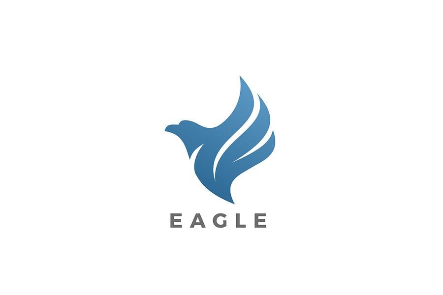 Fully Editable Eagle Logotype