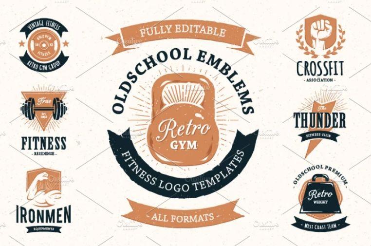 Fully Editable Fitness Branding Design