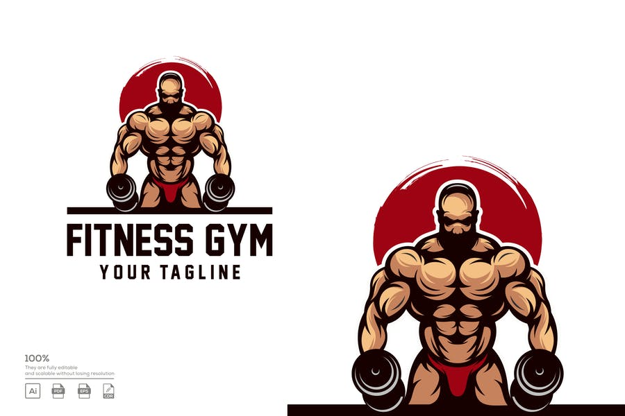 Fully Editable Fitness Logotype