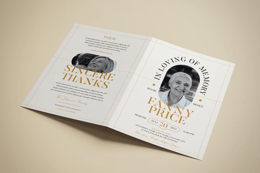 Fully Editable Funeral Brochure Design