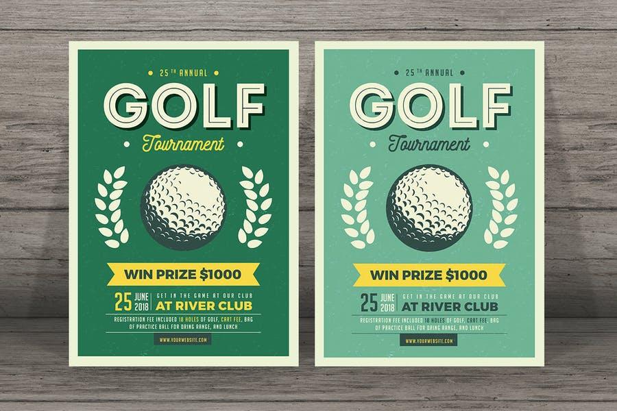 Fully Editable Golf Flyers