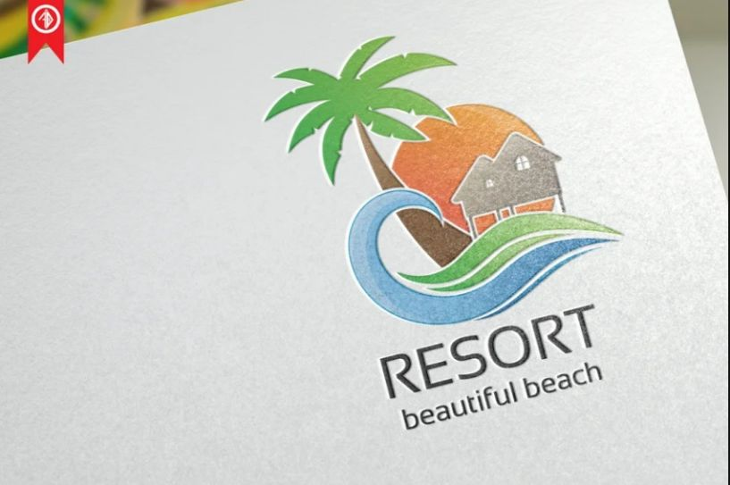 Fully Editable Resort Vector Logo