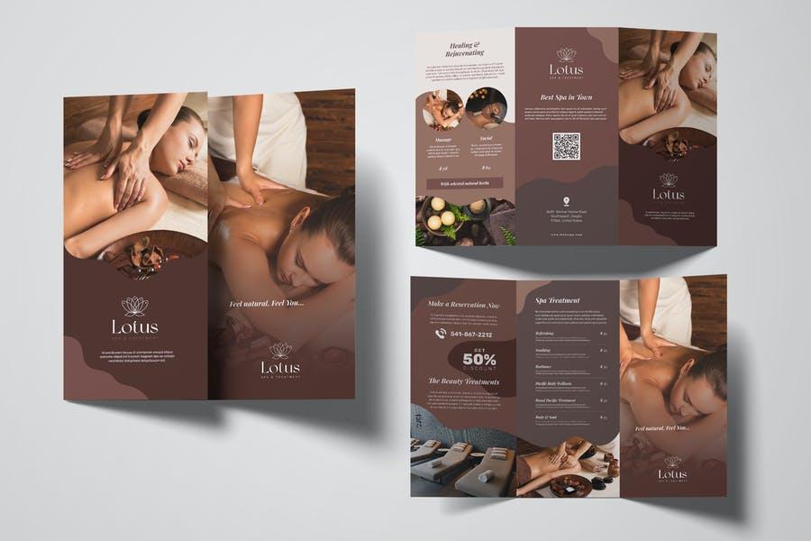 Fully Editable Spa Brochures