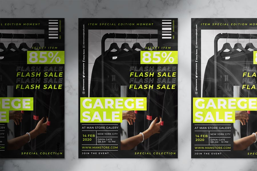 Fully Layered Garage Ad Flyer