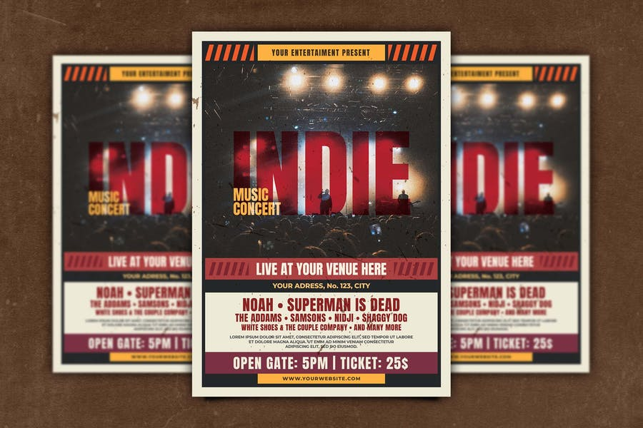 Fully Layered Indie Music Flyer