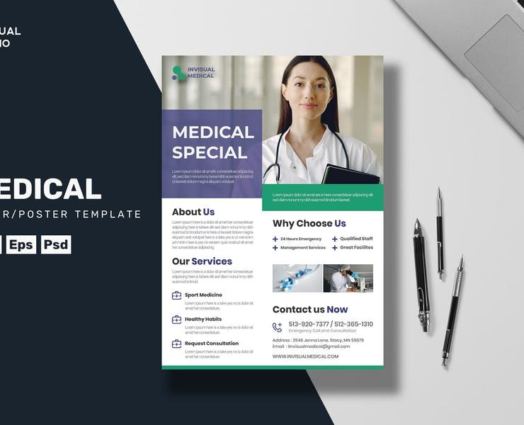 20+ Best Medical Flyer Templates Ai and PSD Download