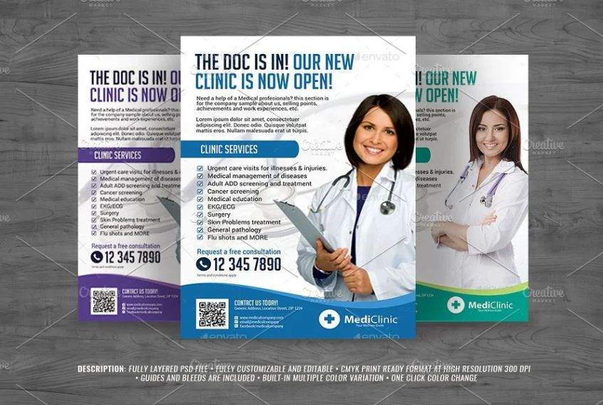 Fully Layered Medical Flyer