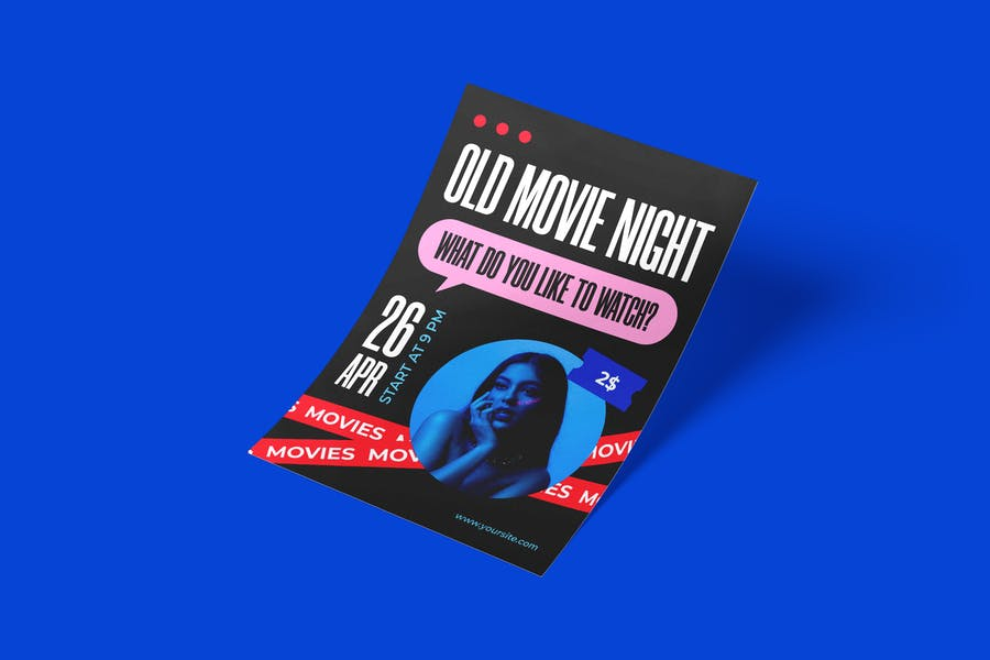 Fully Layered Movie Flyer