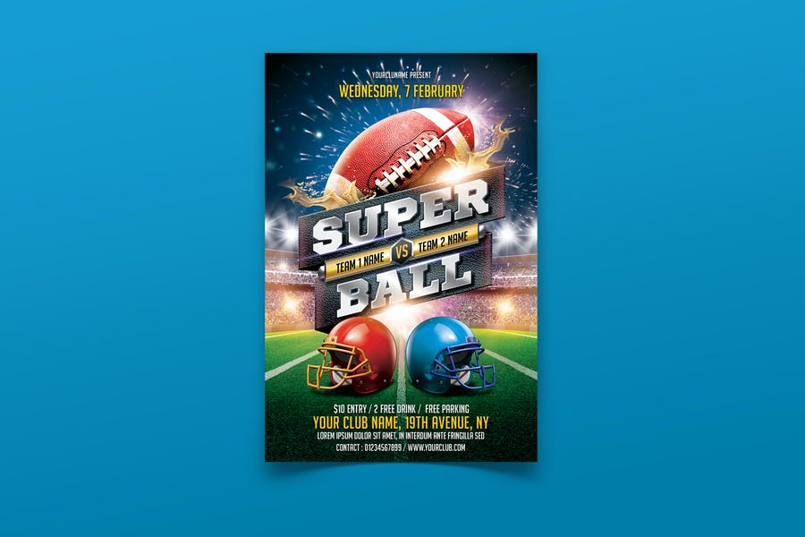 Fully Layered Super Bowl Flyer