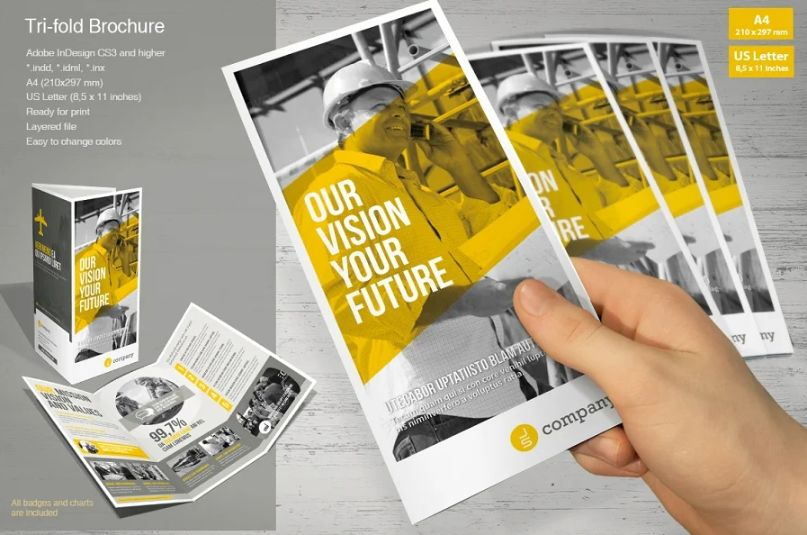 Fully Layered Tri Fold Brochure Template