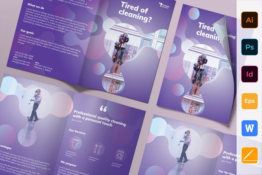 Fully Print Ready Cleaning Services Brochure
