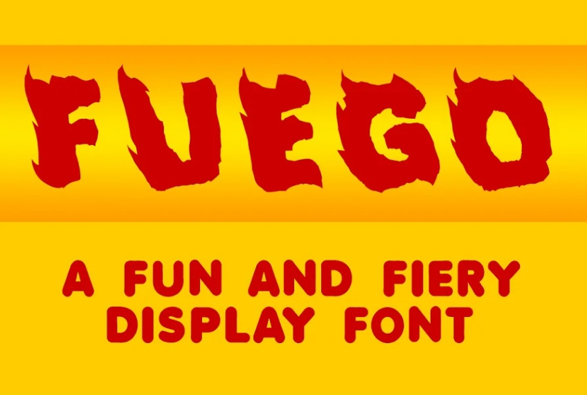 Fun and Fiery Display Font