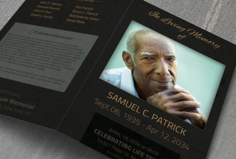 Funeral Bi Fold Brochure Template