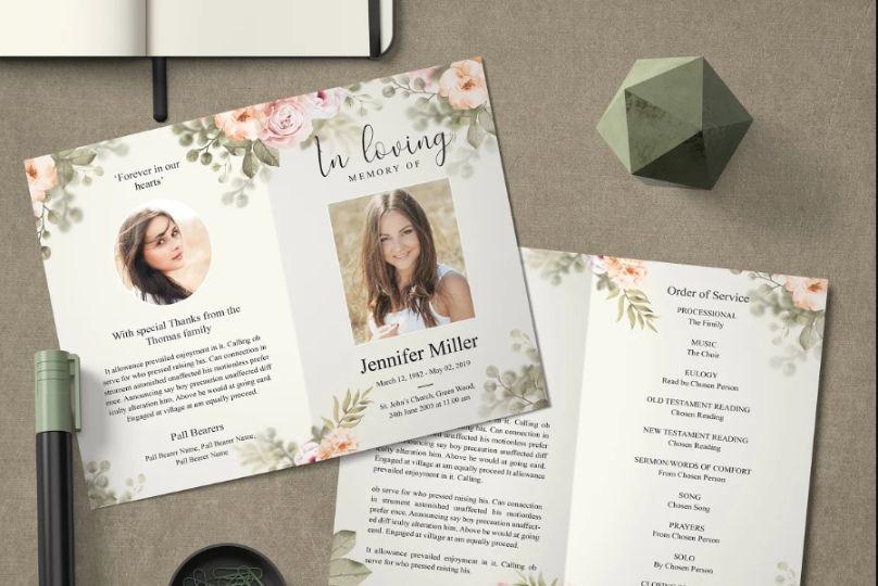 Funeral Obituary Brochure