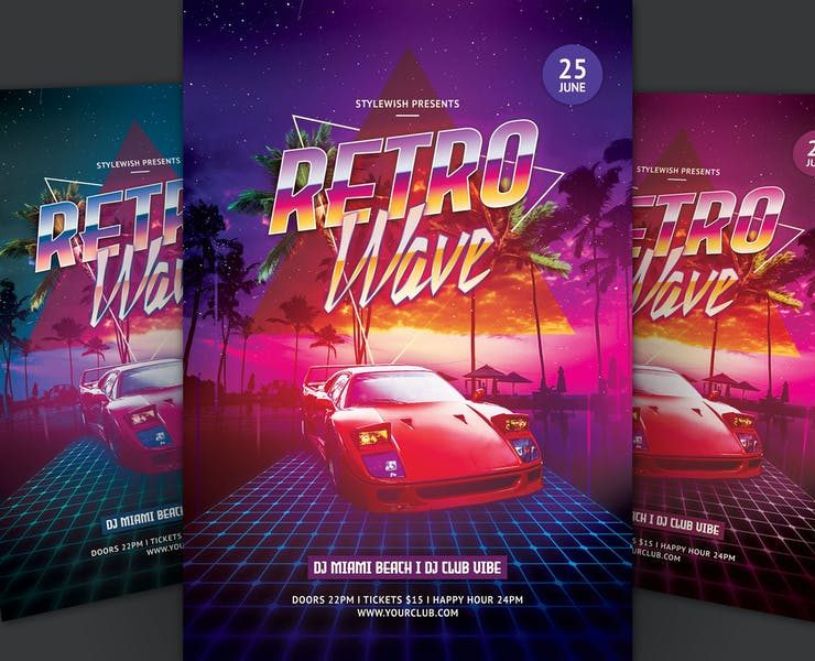 15+ Best Miami Night Flyer Template Download
