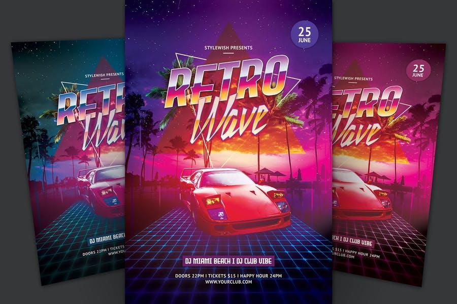 Futuristic Miami Night Flyers