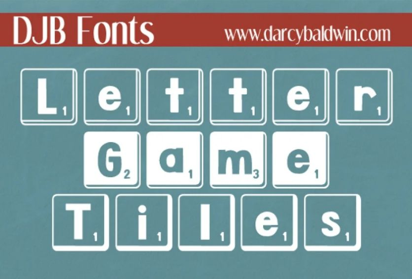 Game Tiles Display Font