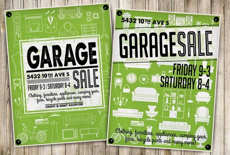 Garage Cleaning Sale Flyer Template