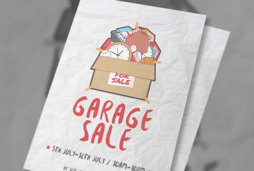 Garage Sale Ad Flyer emplate