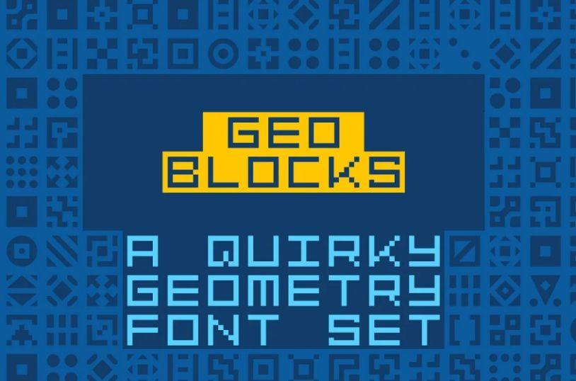 Geometric Pixel Fonts