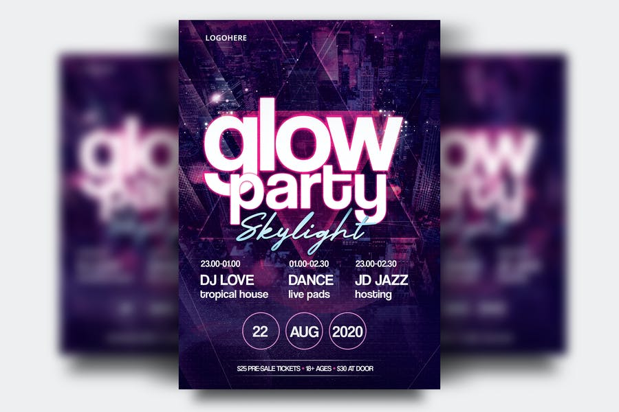Glow party Flyers