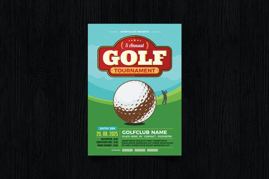 Golf Club Flyer Design