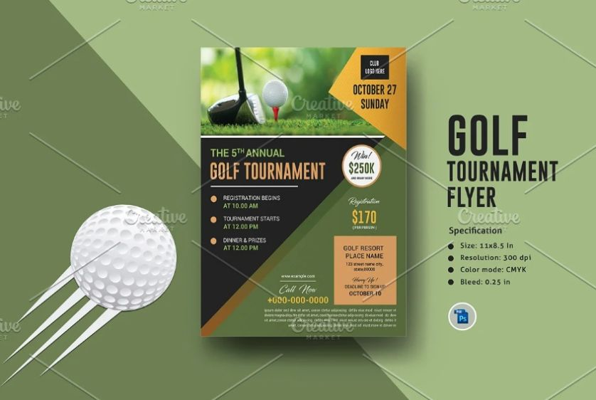 Golf Competion Advertising Flyer