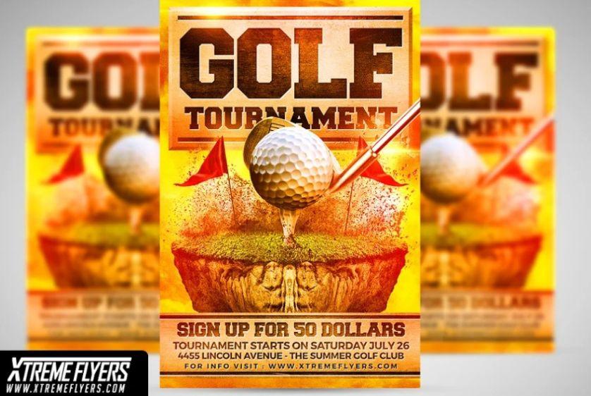 Golf Course Flyer Template