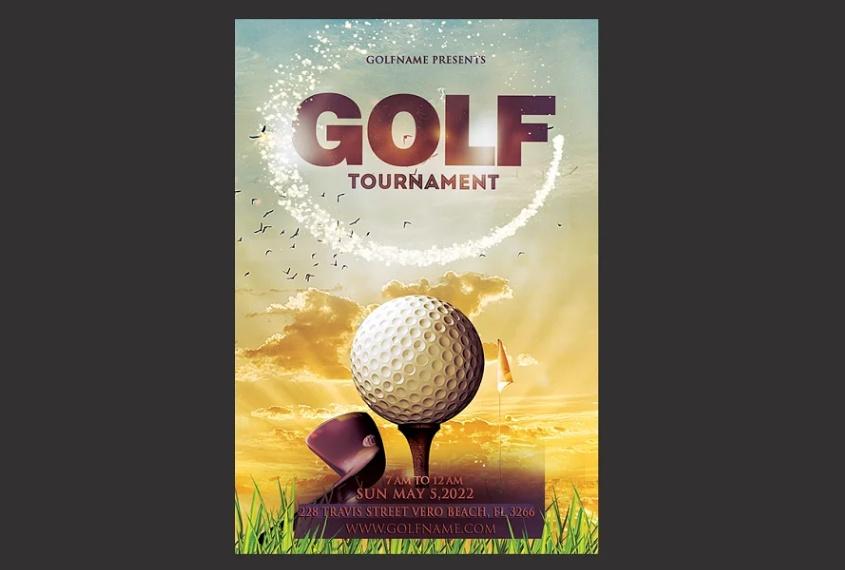 Golf Event Branding Template