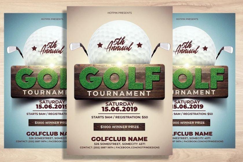 Golf Invitation Flyer Design