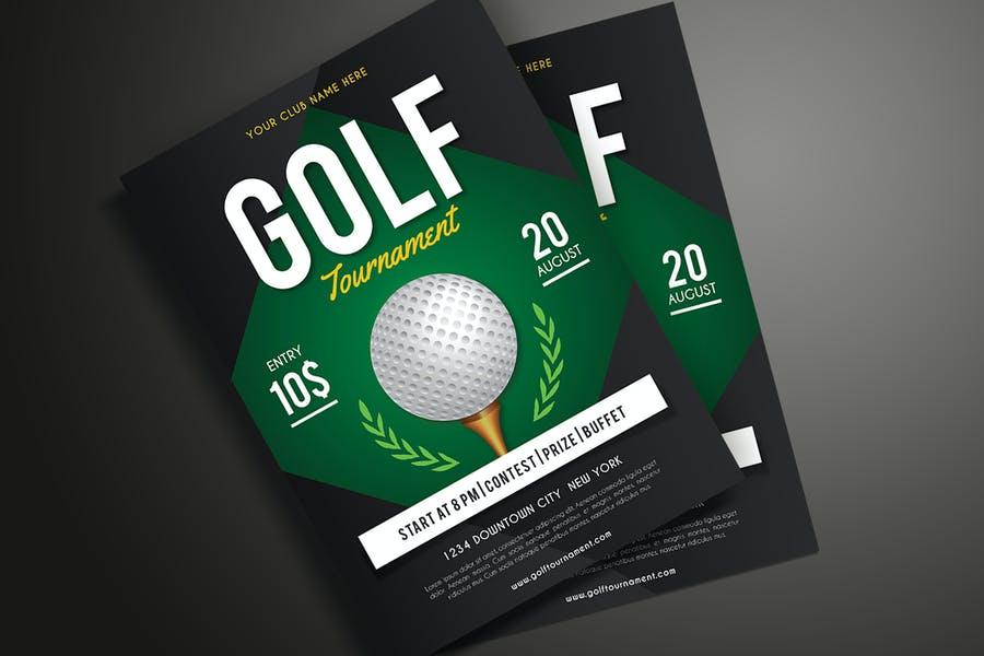 Golf Tournament Flyer Designs