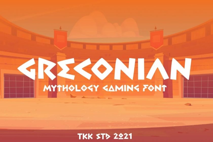 Greek Style Gaming Font