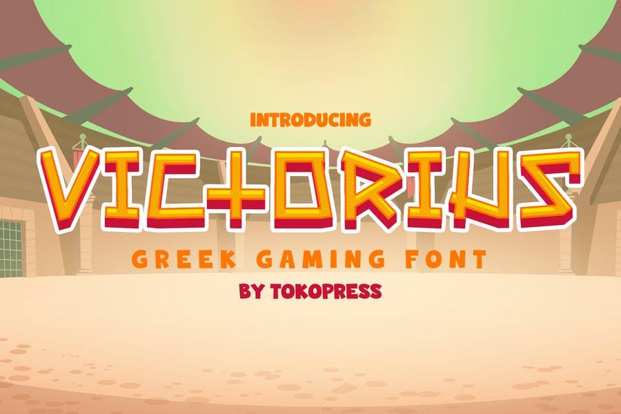 Grek Gaming fonts