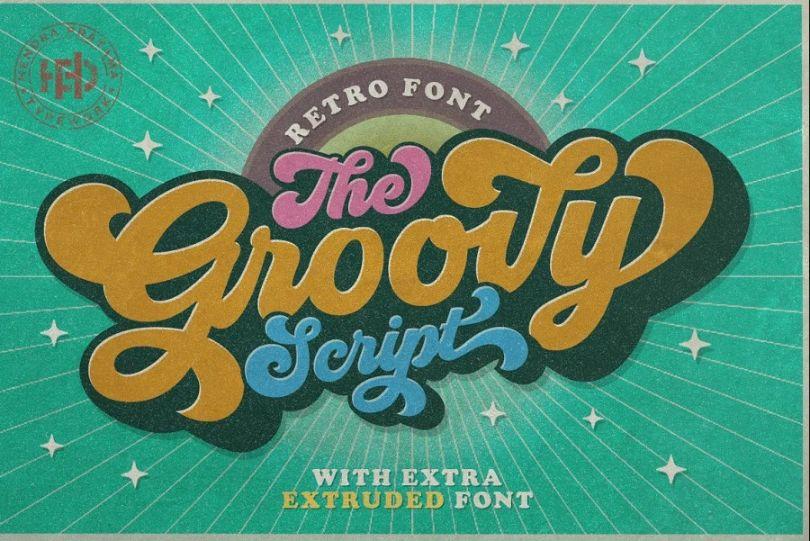 Groovy Style Retro Font