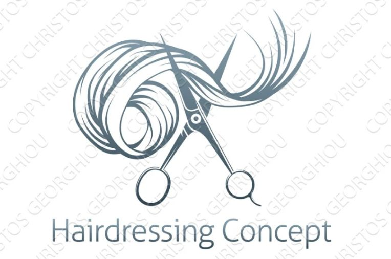 Hairdressing Logo Design Concept