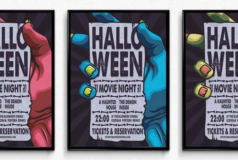 Halloween Movie Night Poster