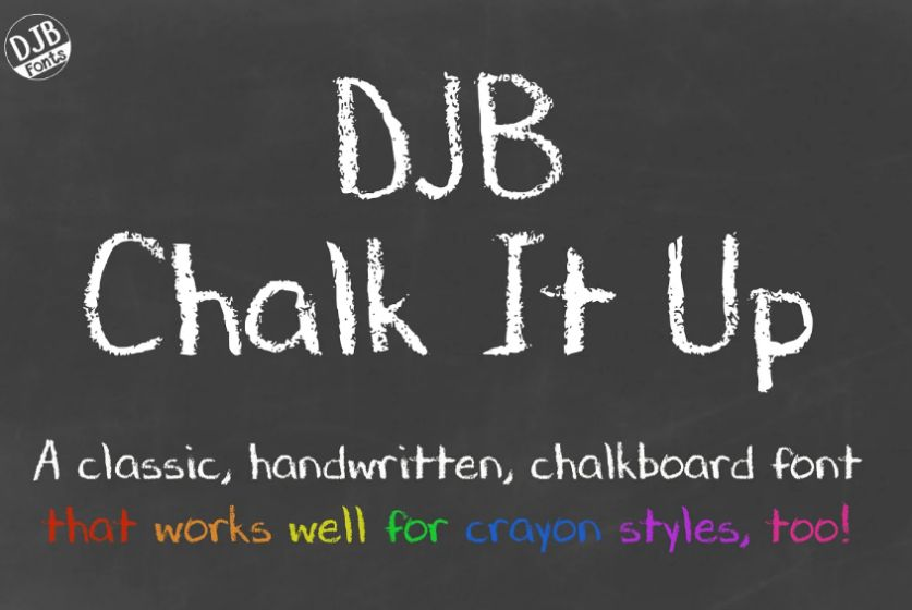 Hand Drawn Chalkboard Fonts