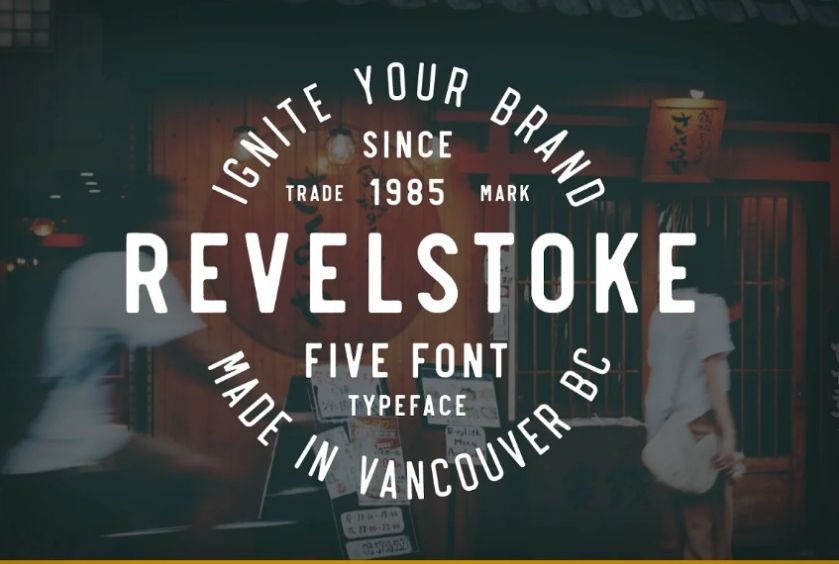 Hand Drawn Hipster Stamp Font