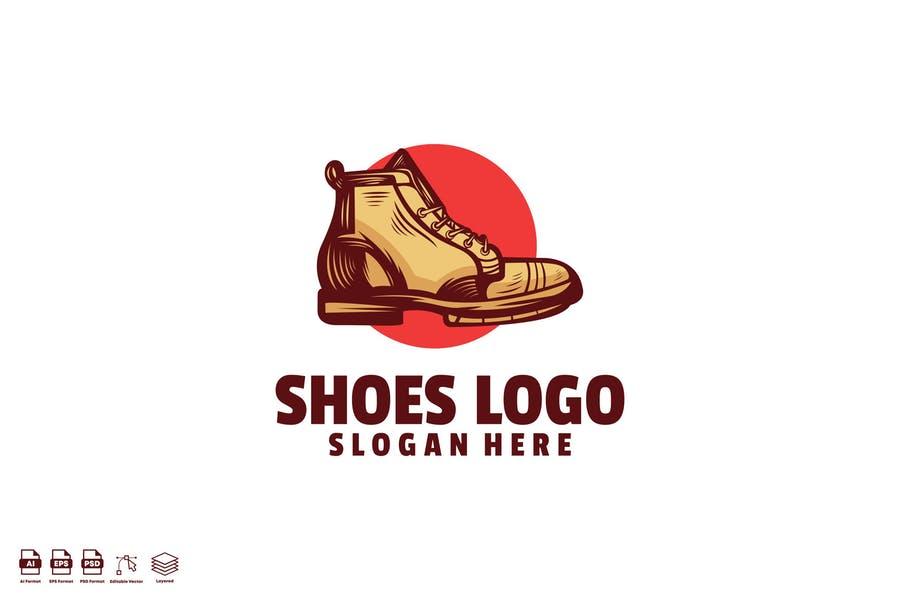 Hand Drawn Shoe Logo Templates