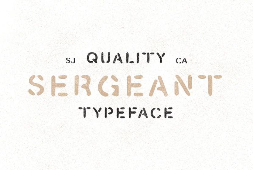 Hand Drawn Stencil Typeface