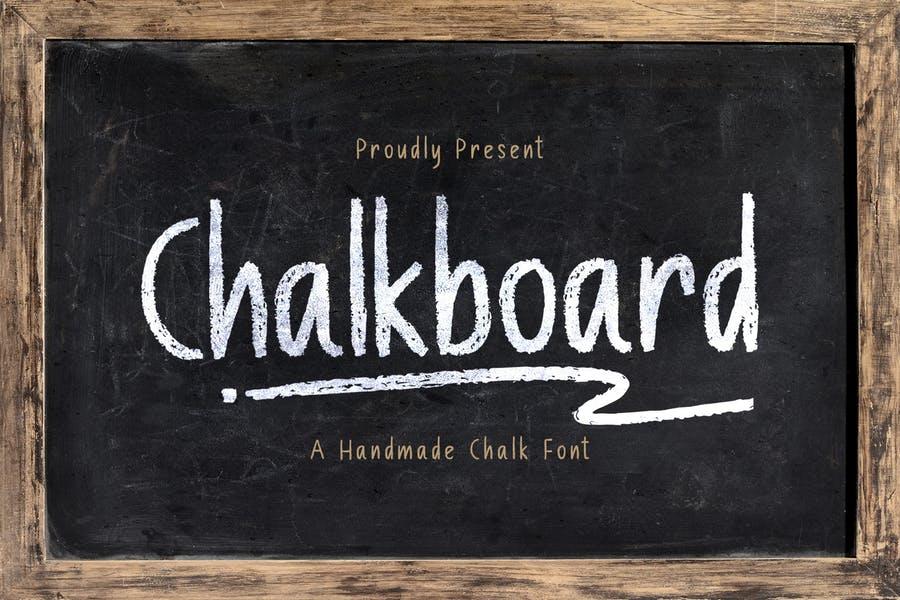Handmade Chalk Textured Typeface