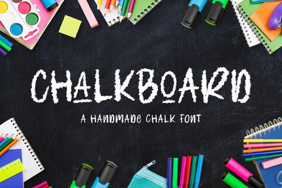Handmade Chalkboard Typeface