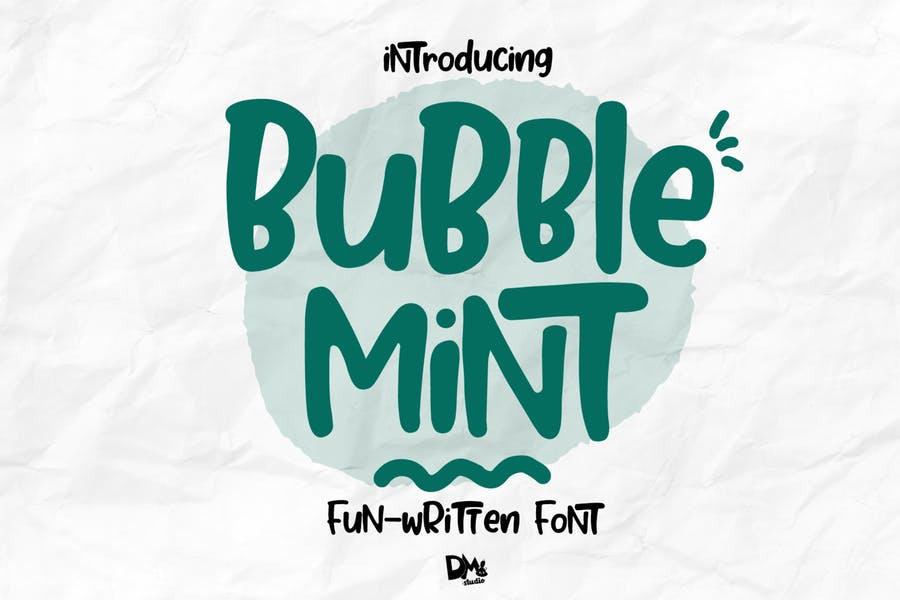 Handwritten Bubble Mint Fonts